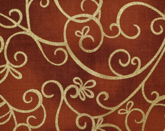 Shimmer fabric, swirly print Timeless Treasures