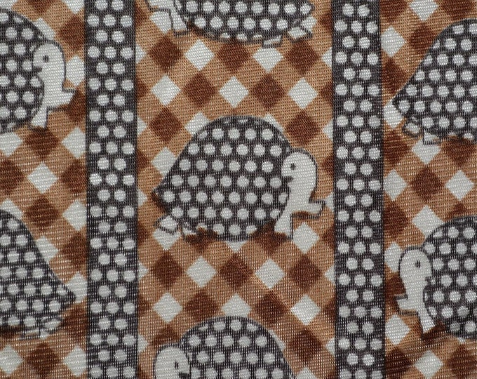 Funky fabric Turtles vintage mod fabric printed nylon
