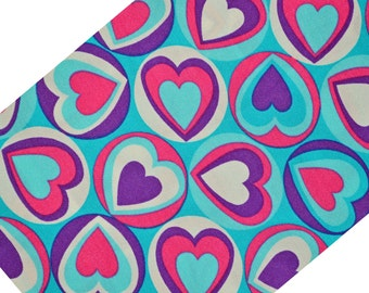 Stretch lycra spandex fabric with hearts