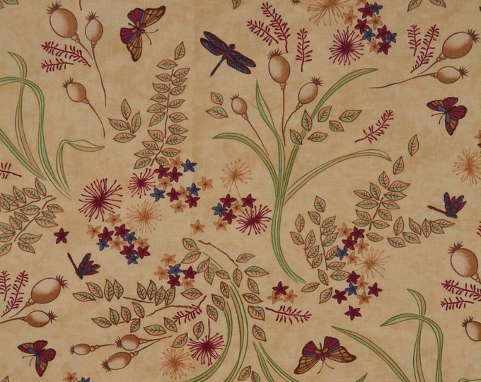 moda fabric, botanical butterfly fabric, Holly Taylor