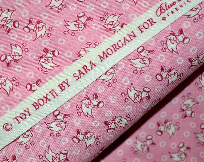 Blue Hill fabric baby girl pink, Sara Morgan half yard