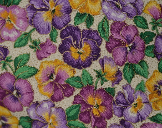 Easter floral fabric, pansy fabric, Messmore VIP Cranston