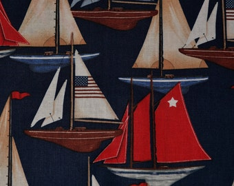 Nautical fabric Sailboat fabric Kaufman fabric regatta sailing fabric