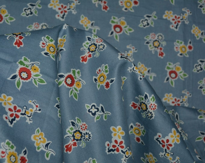Floral cotton lawn fabric by the yard garment scarves fabric