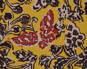 Java BATIK fabric, vintage sarong with butterflies