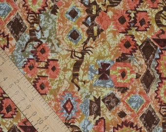 Kokopelli fabric, Aztec Native fabric, desert southwest, Fabric Traditions