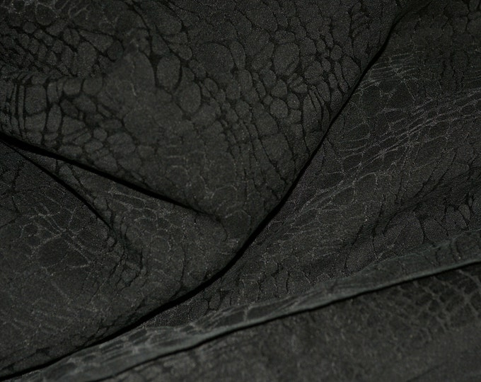 Sand washed Silk jacquard fabric, reptile pattern