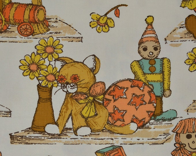 Vintage juvenile fabric, Waverly upholstery fabric