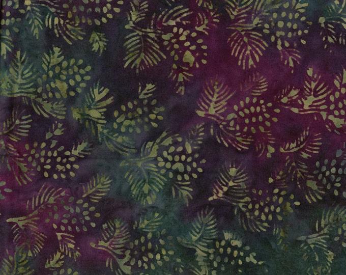 Nature batik fabric, pine cones Tie dyed fabric