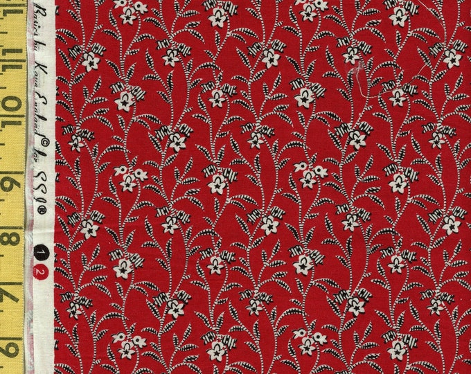 Retro floral fabric, Kaye England for SSI