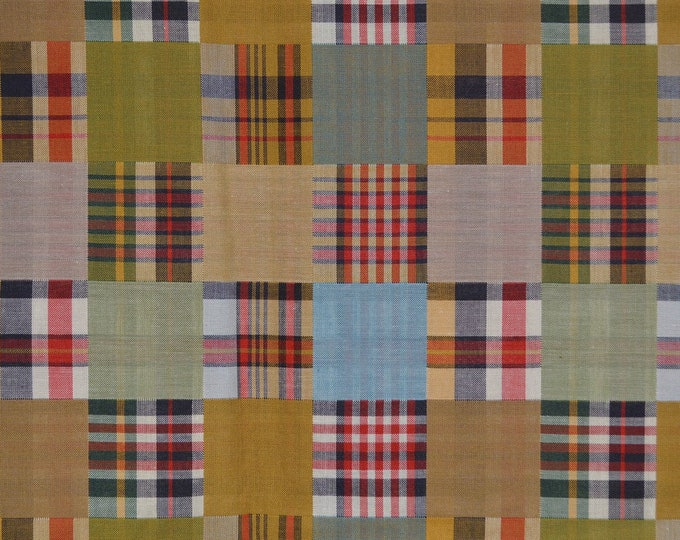 Checkerboard fabric Plaid fabric reversible fabric double faced cotton plaid shirting fabric