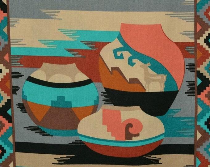 Southwest fabric Navajo pottery fabric panel Cranston VIP