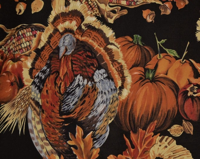 Thanksgiving decor fabric Autumn fabric pumpkin fabric Alexander Henry