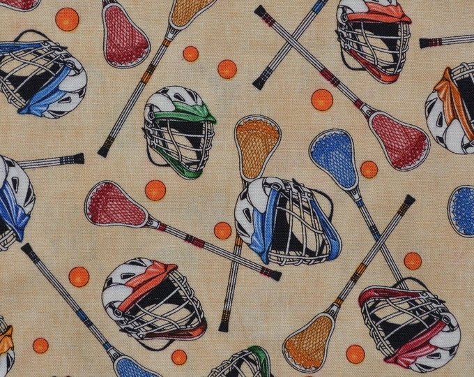 LaCrosse fabric for lacrosse gifts lacrosse mom sports fabric, half yard cuts