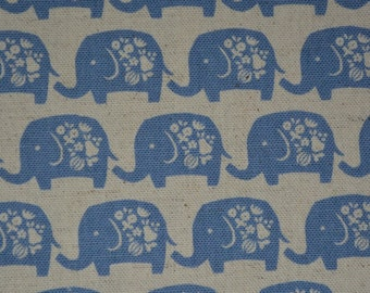 Elephant fabric KOKKA fabric trefle Japan