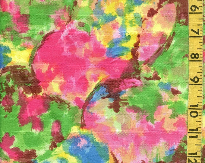 1960s mid mod fabric, Spring abstract fabric