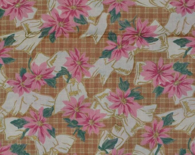 Christmas fabric, Poinsettia Jennifer Sampou P and B fabric