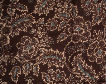 Blue Brown quilt fabric Country floral fabric Chocolate Brown floral fabric Sentimental Studios moda fabric
