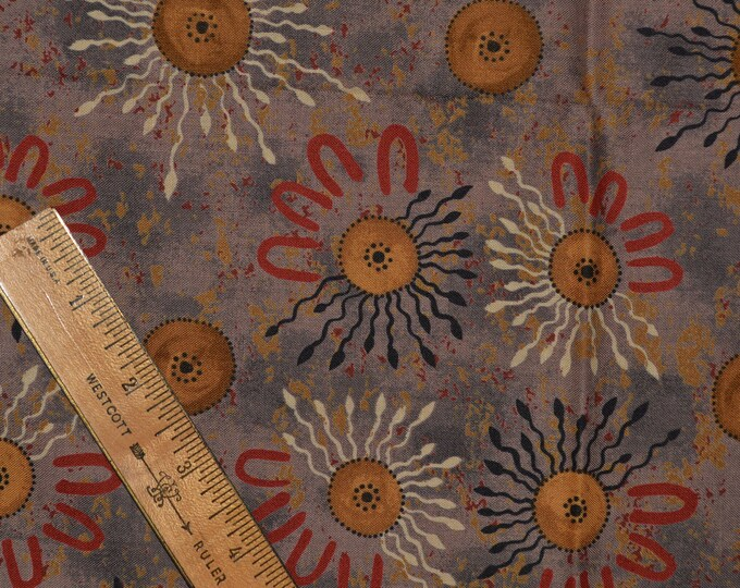 Bush Onion fabric M and S Textiles Aboriginal Hedwig Moketarinja