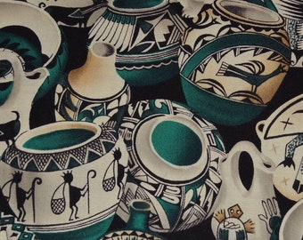 Indian pottery Southwest fabric Native American Hopi pottery fabric Michael Miller