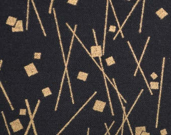 Black gold fabric Asian fabric Japanese fabric Hoffman half yard fabric