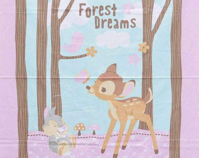 Disney Bambi baby nursery fabric panel