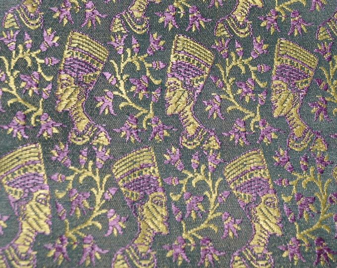 Nefertiti Egyptian decor fabric jacquard fabric silk blend fabric 5 yards