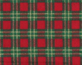 Christmas plaid fabric, Joan Kessler for Concord Fabrics