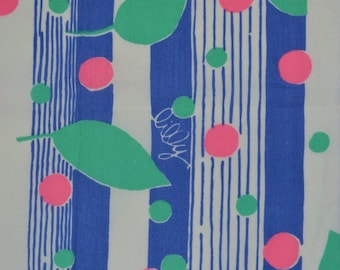 Vintage Lilly Pulitzer fabric Zuzek Key West fabric wonky remnant
