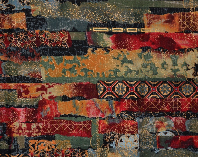 Patchwork fabric by Hoffman fabric, Punch Studio