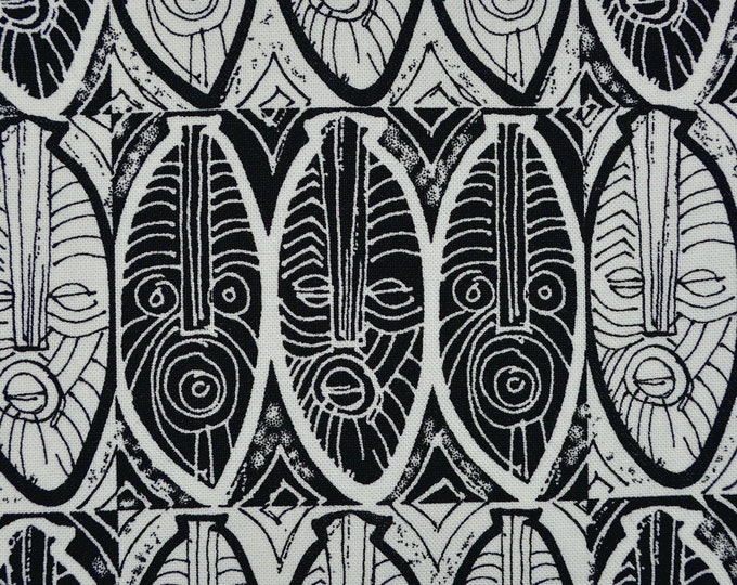 Abstract Tribal masks fabric, Marcus Brothers Malene Djenaba