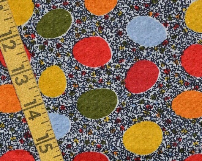 Vintage fabric mod fabric eith dots by the yard