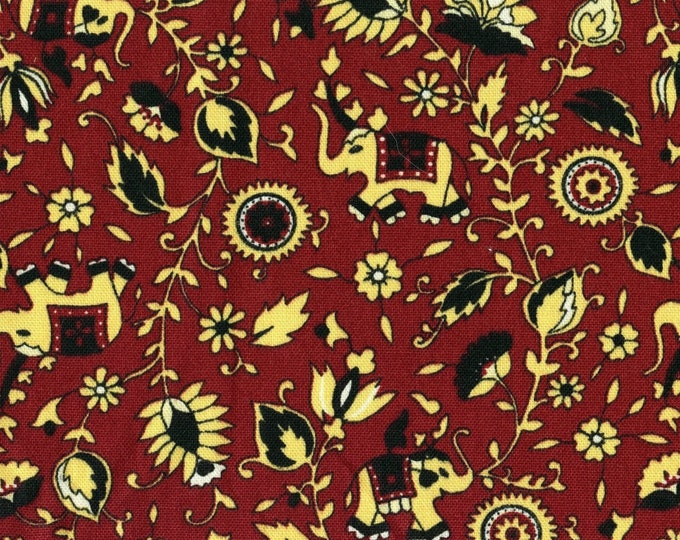Indian elephant upholstery fabric by the yard, 100 percent cotton