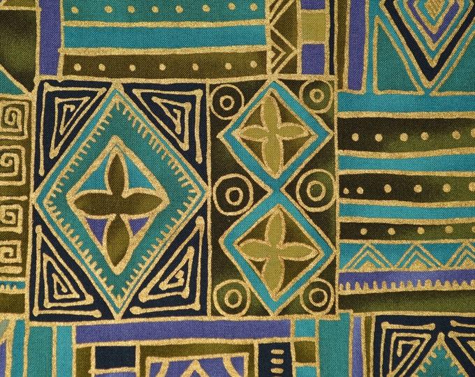 Ethnic Tribal fabric tapa print geometric fabric rare Alexander Henry