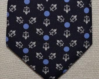 Silk ties, Fleur de lis silk men's necktie,