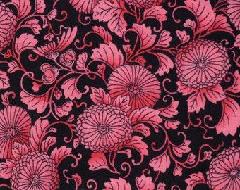RJR Fabric Asian Japanese print mum flower