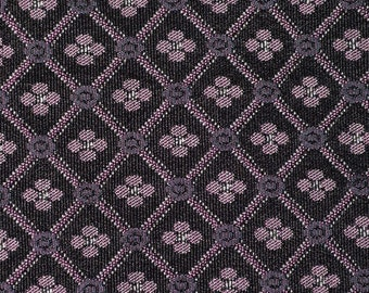 Woven upholstery fabric by the yard geo fabric Black with Pink