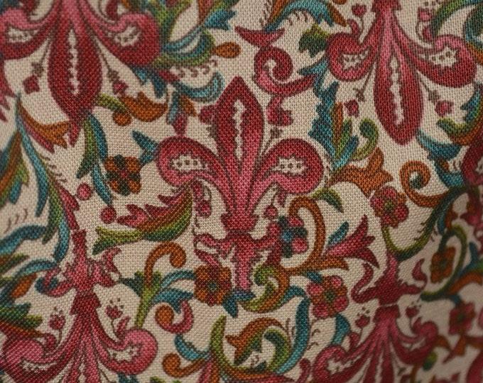 Fleur de lis fabric OOP Hoffman fabric Camelot French floral