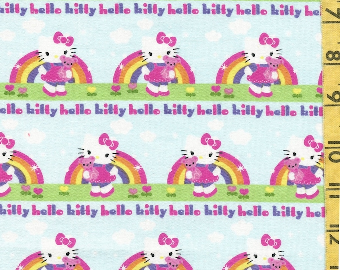 Rainbow Hello Kitty fabric, with Teddy bear, Spring Creative 2013