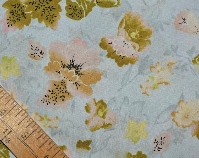 Painterly floral fabric, Nancy Crow for Avery