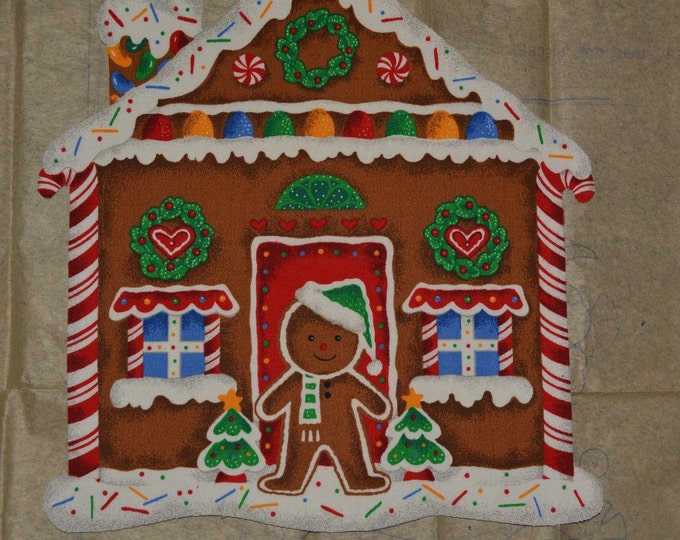 Gingerbread House Daisy Kingdom appliques with craft fuse backing