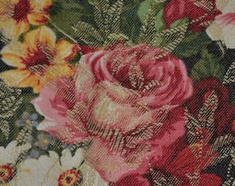French floral fabric, shabby chic roses fabric, YUWA fabric live life collection