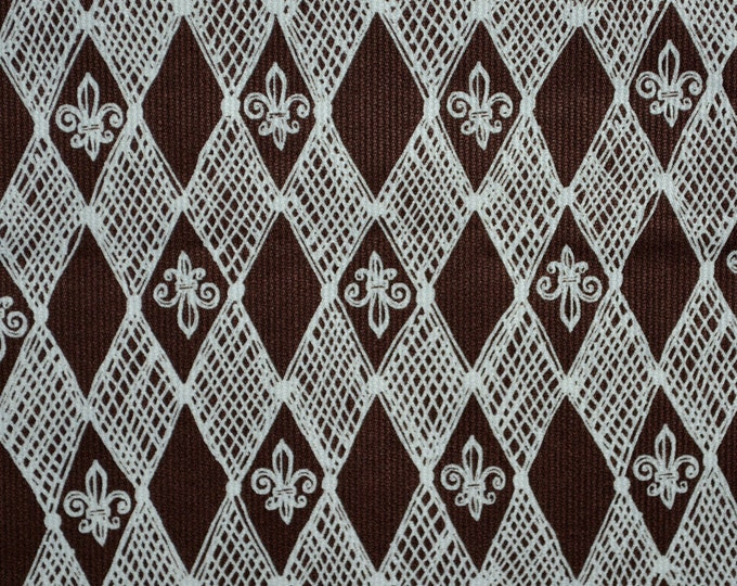 Harlequin fabric Fleur de lis fabric by the yard Marcus Brothers
