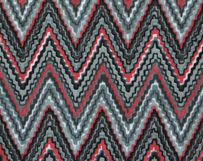 Zig zag flame stitch upholstery fabric cotton twill