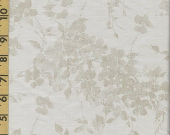 Bella Notte luxury cotton fabric, Woven jacquard birds and branches, 3 plus yards
