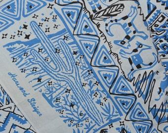 Vintage Southwest fabric, Harwood Steiger