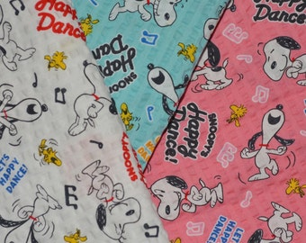 Snoopy fabric bundle Peanuts gang snoopy party dance fabric seersucker
