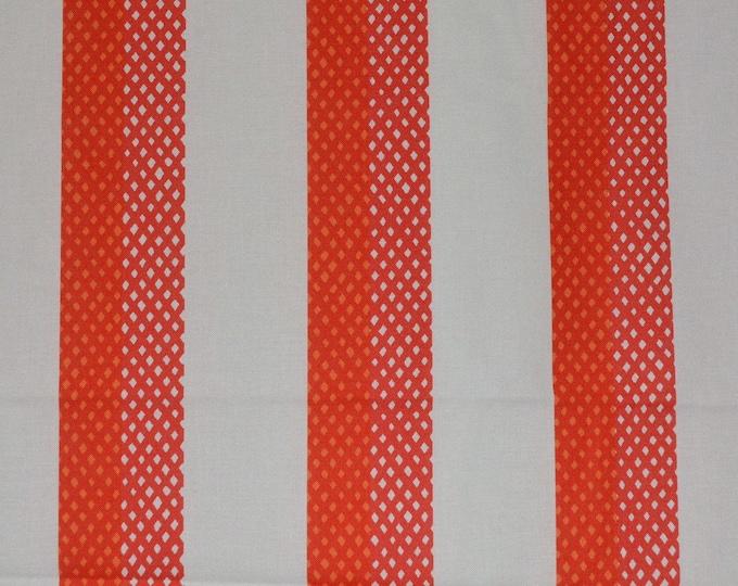Bright Orange and white fabric Marimekko fabric by the yard orange stripe