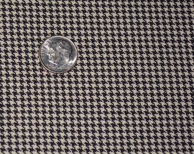 Woven Houndstooth fabric black houndstooth small scale couture doll dress fabric half yard