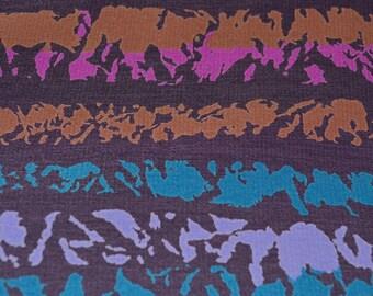 designer dress fabric by Bill Blass, striped Fabric polyester, multicolor stripe